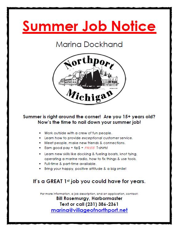 Summer Job Notice